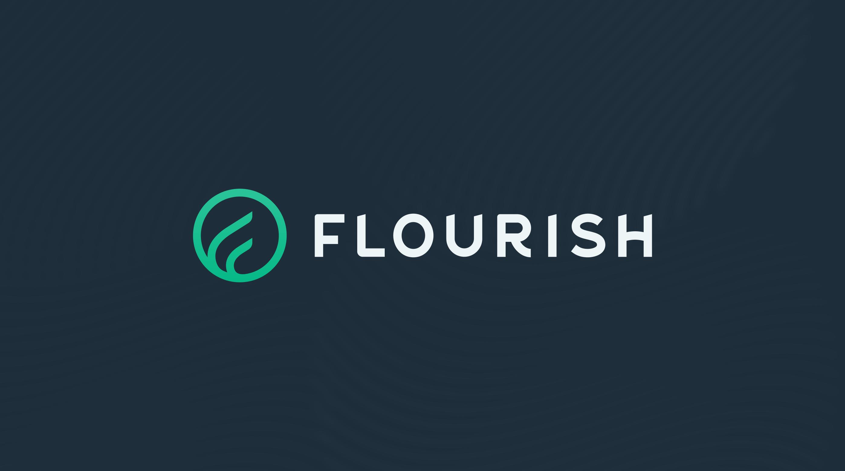 Flourish logo header.