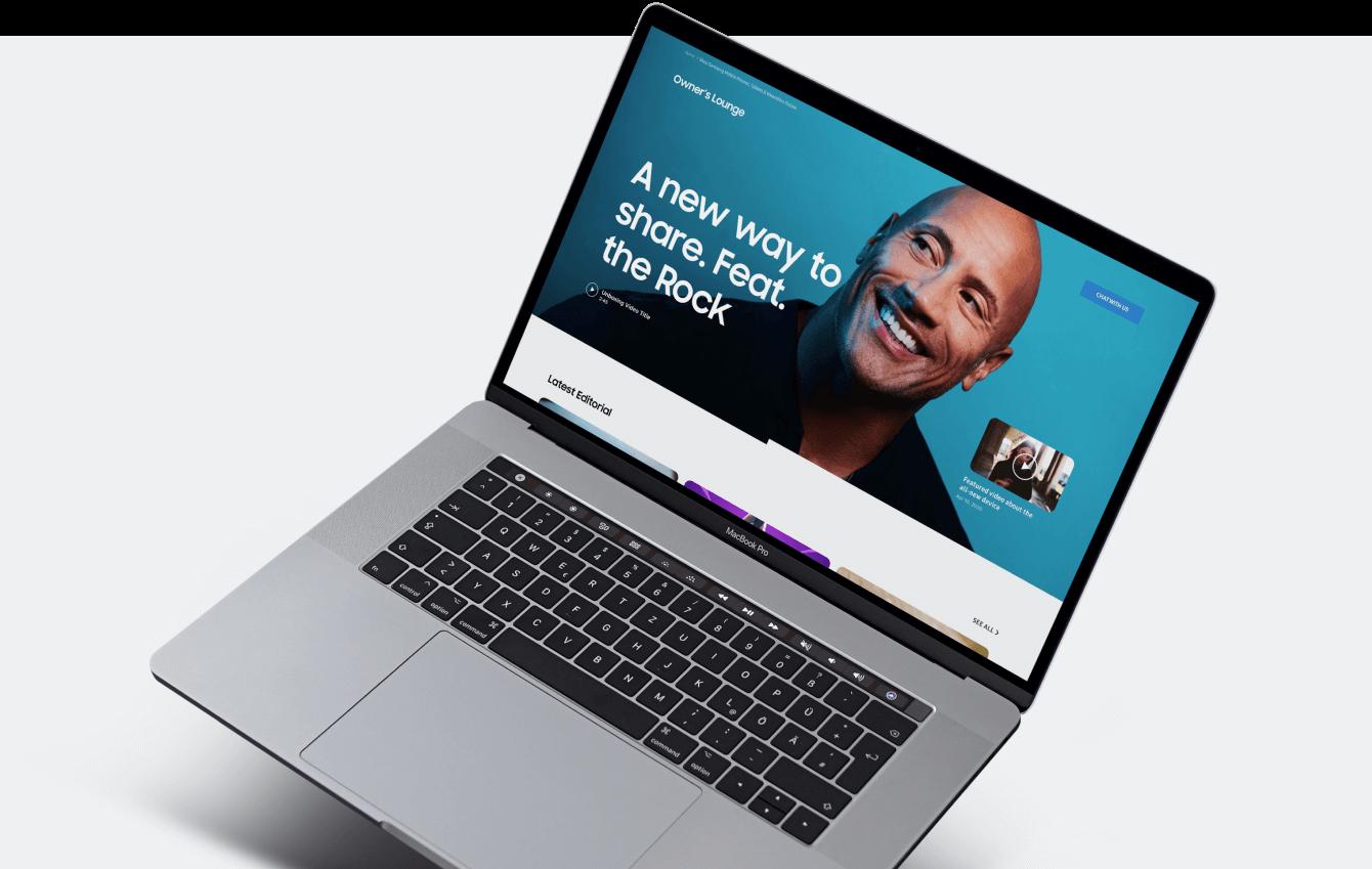 Samsung homepage image