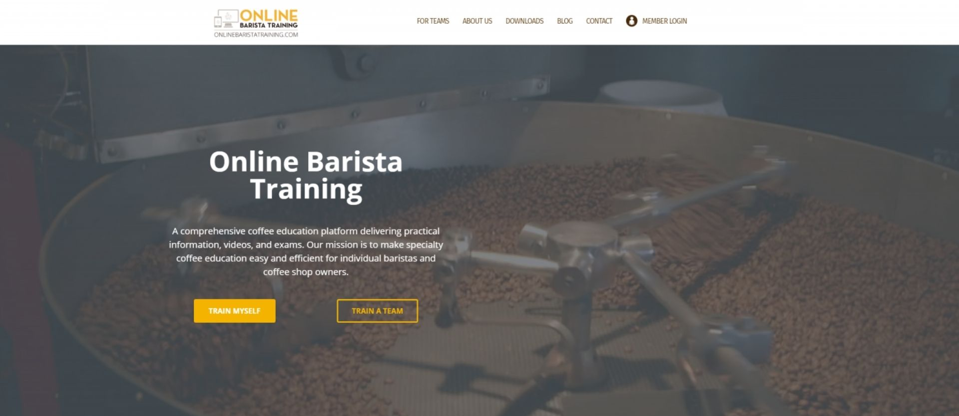 Online Barista Training site preview