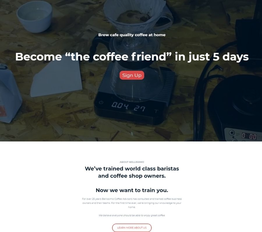 Virtual Coffee learning platform preview