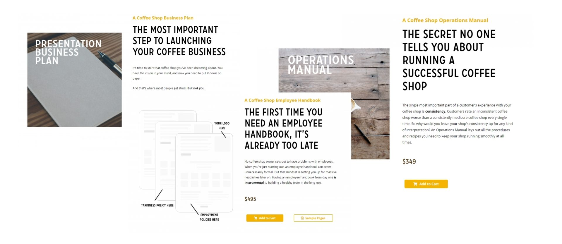 Business document templates product copy preview
