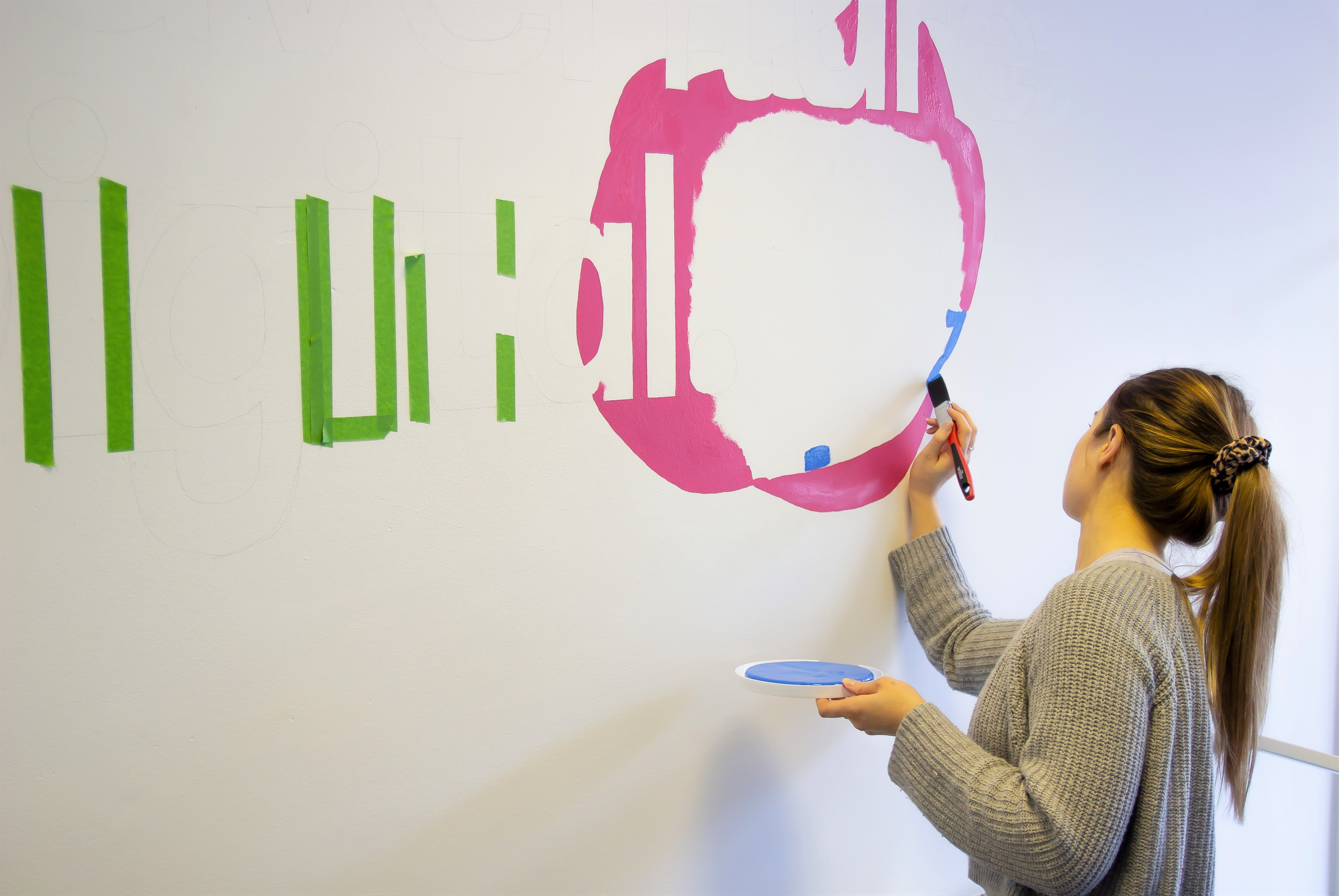 Adventure Digital Agency Logo Being Painted