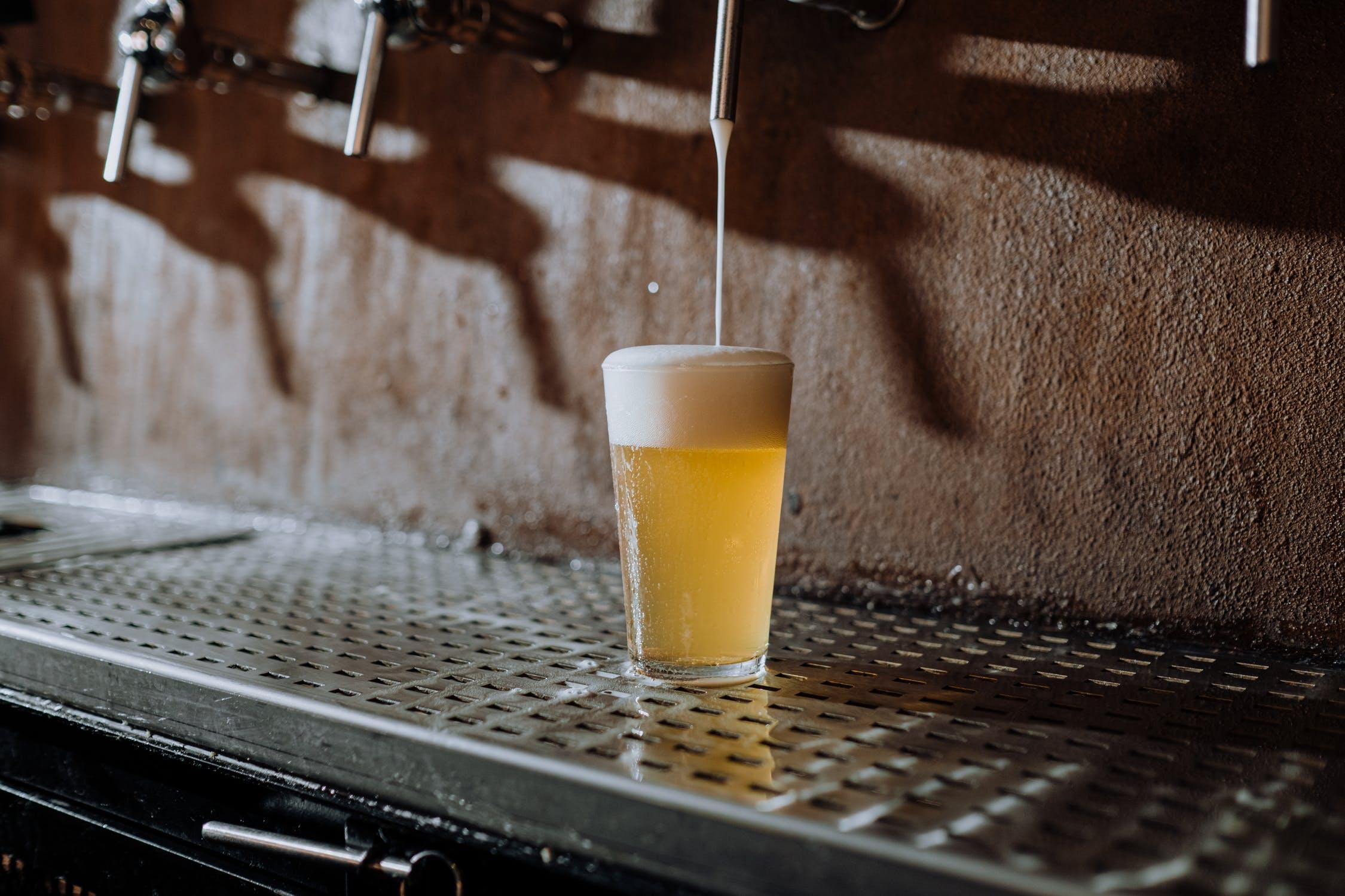 beer under tap