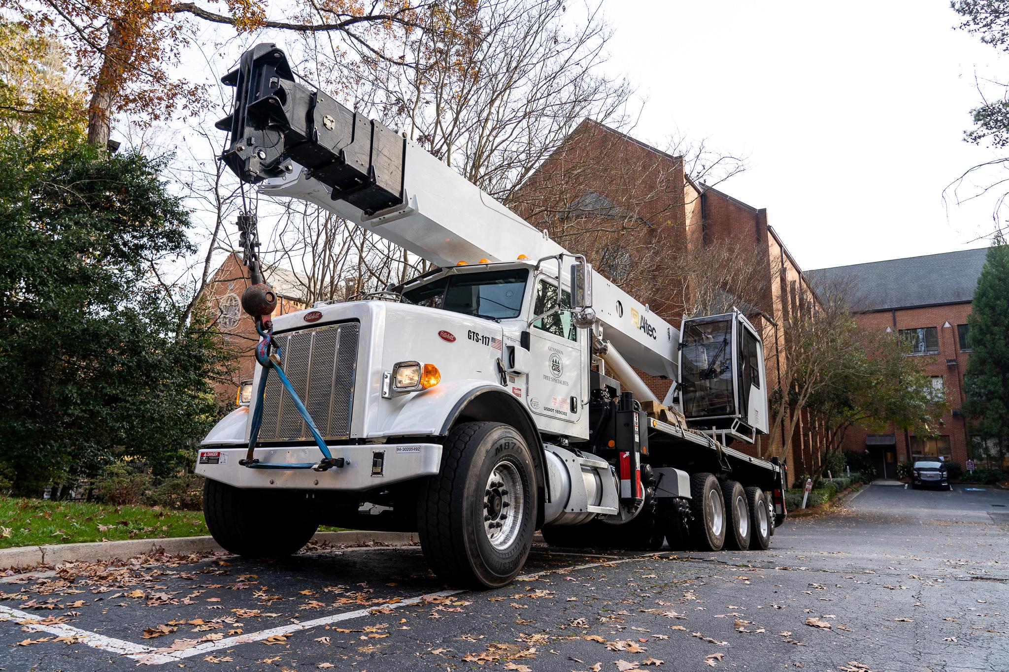 A Gunnison Tree Services truck