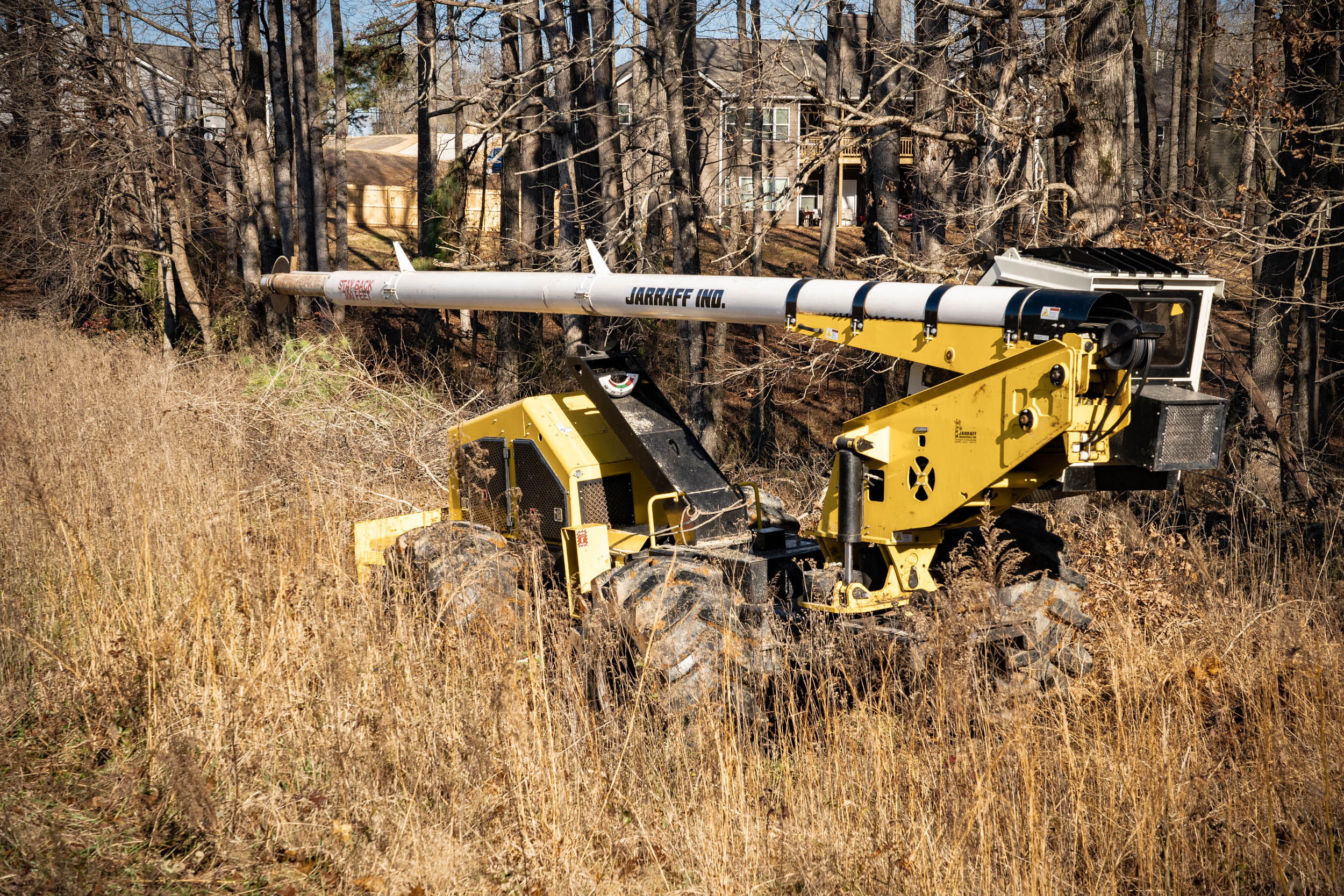 A Gunnison Tree Services all-terrain tree trimmer