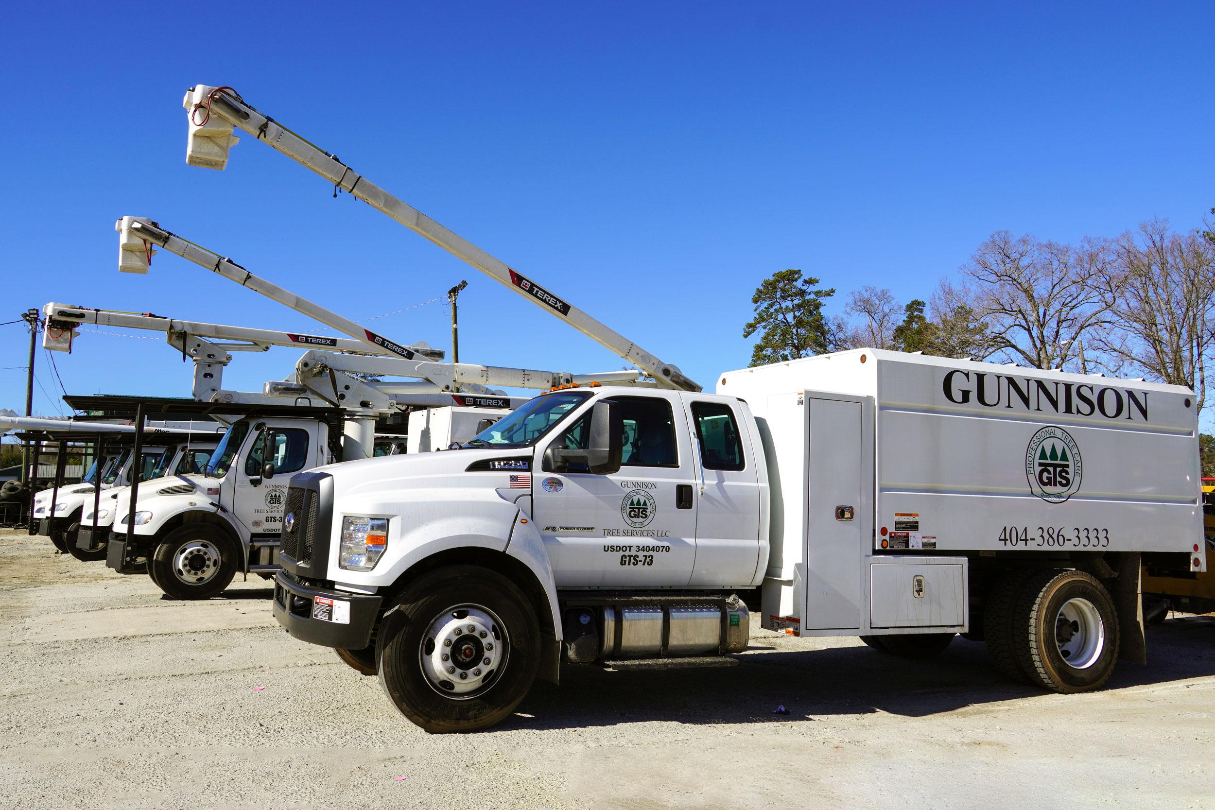 Gunnison Tree Services bucket trucks