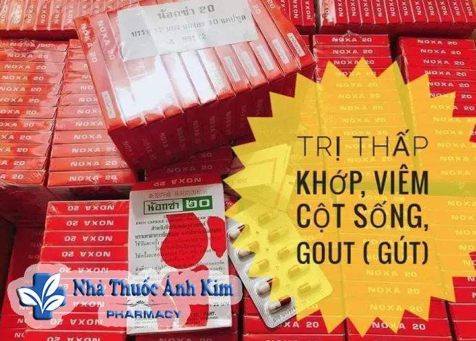 Thuốc xương khớp Thái Lan Noxa 20 có tốt không, Cách sử dụng