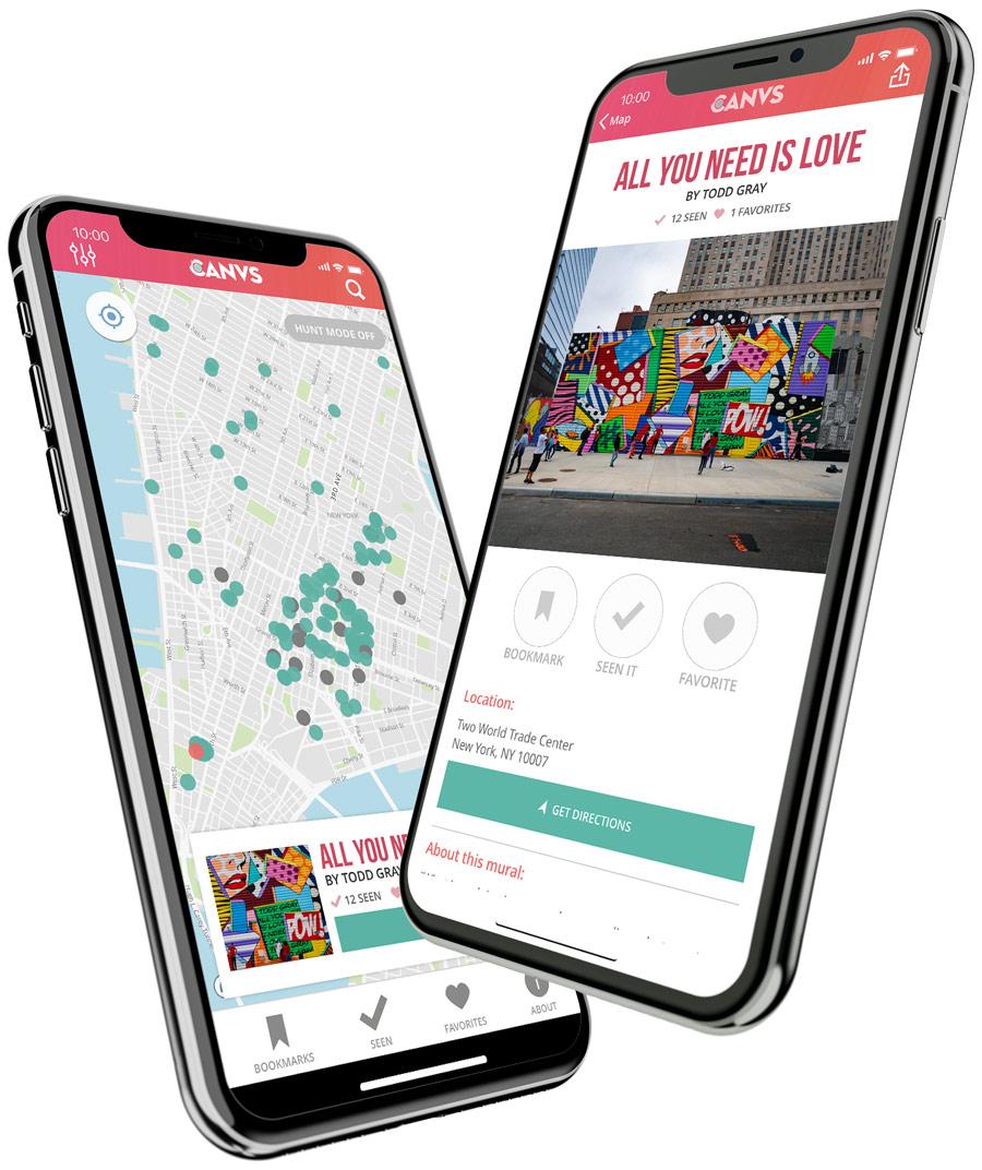 The CANVS app on iOS
