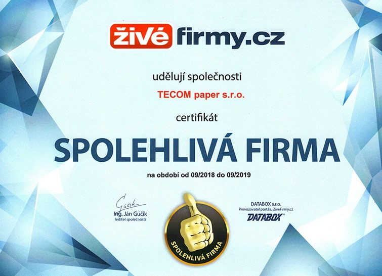 spoleglivá-firma-certifikat-2019