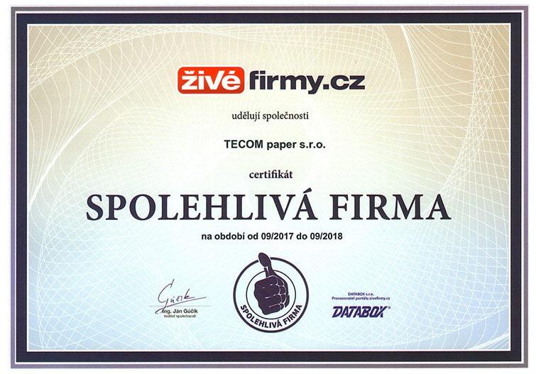 spoleglivá-firma-certifikat-2018