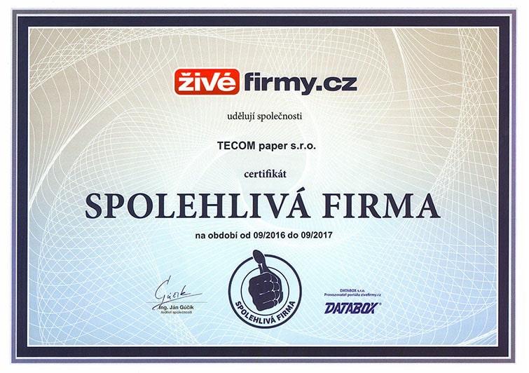 spoleglivá-firma-certifikat-2017