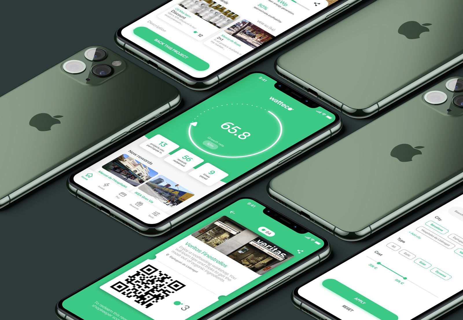 watteco diseño app spora