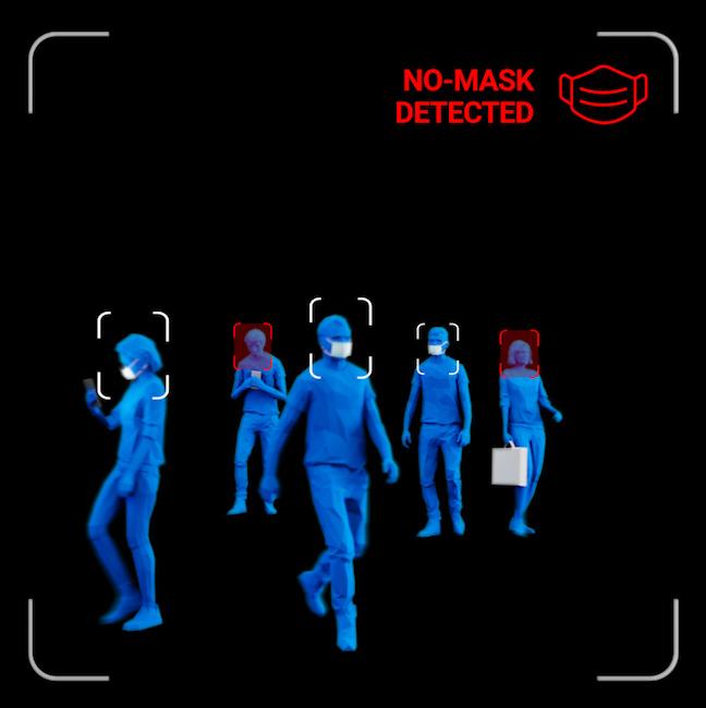 Mask detection using AI