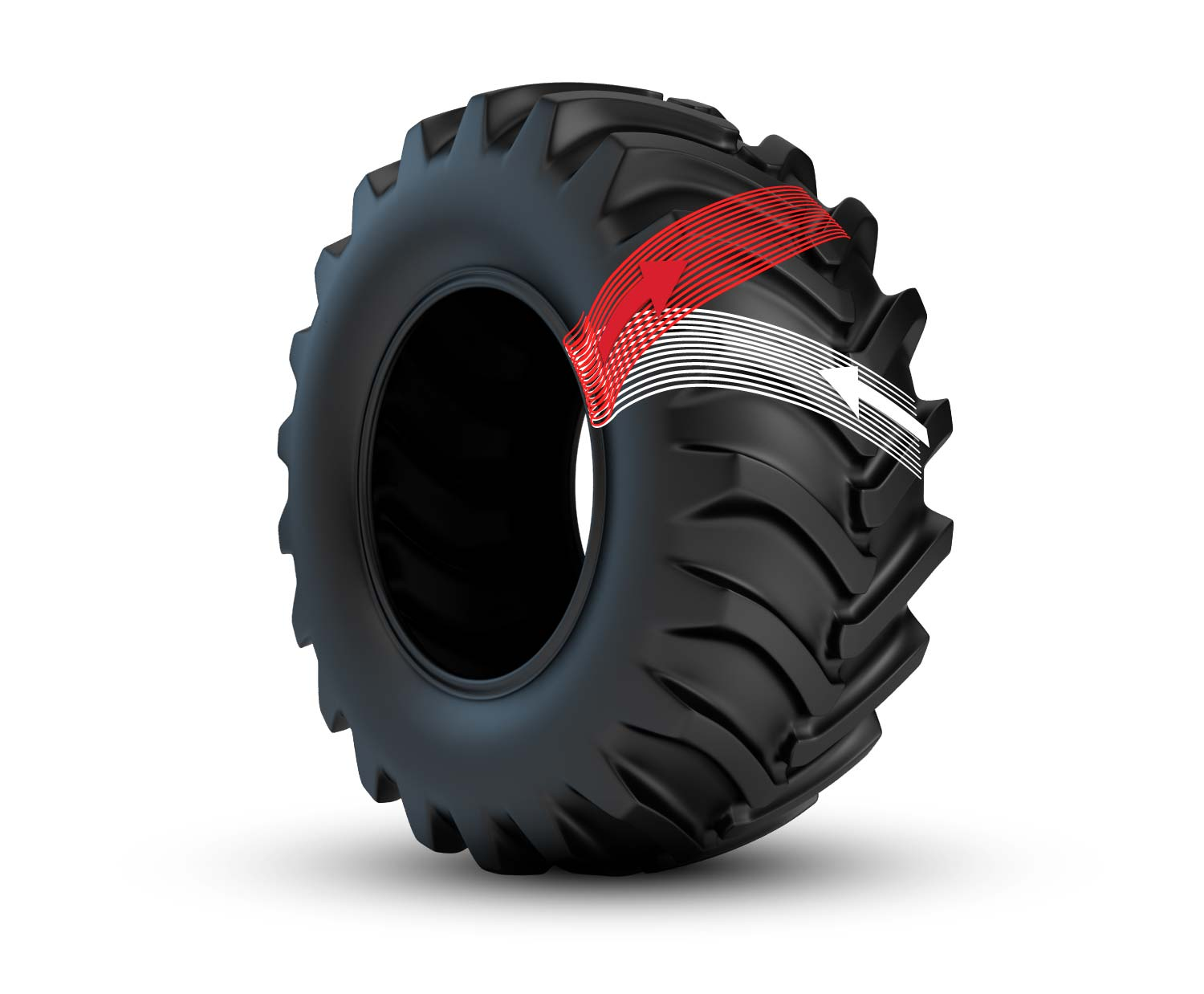 bias ply tractor tire construction
