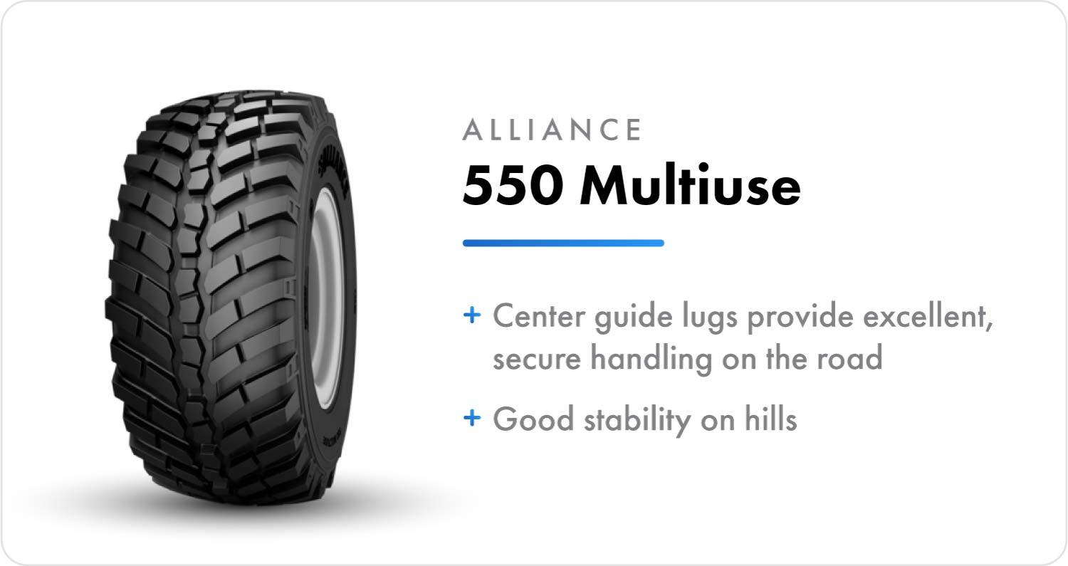 Alliance 550 Multiuse sprayer flotation tire