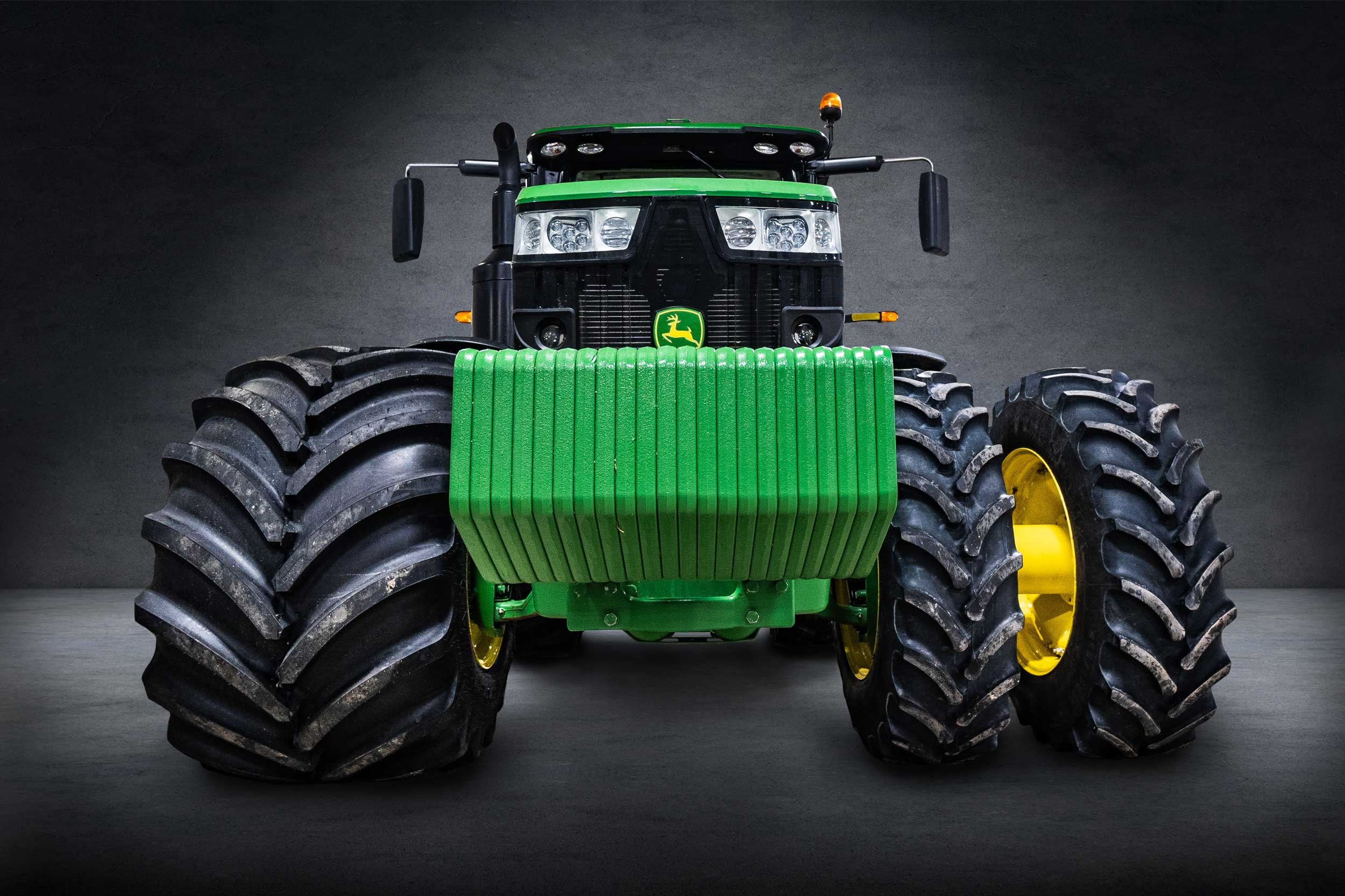 tractor tire comparison between Goodyear LSW super singles and duals