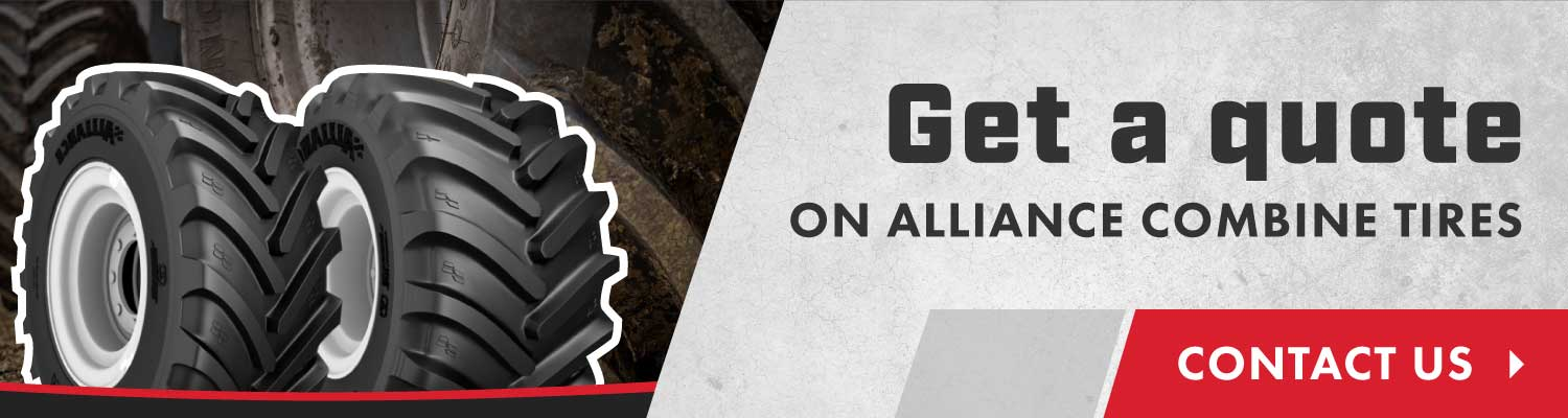 Get a quote on Alliance combine tires