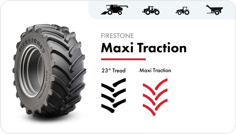 Firestone Maxi Traction grain cart tire