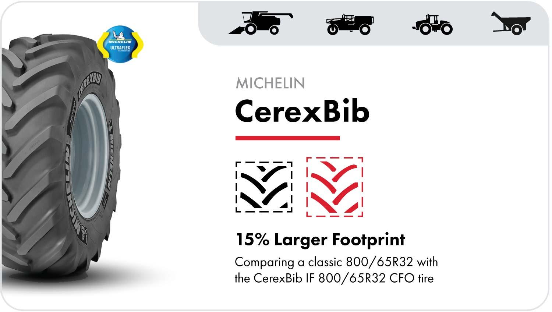 Michelin CerexBib grain cart tire