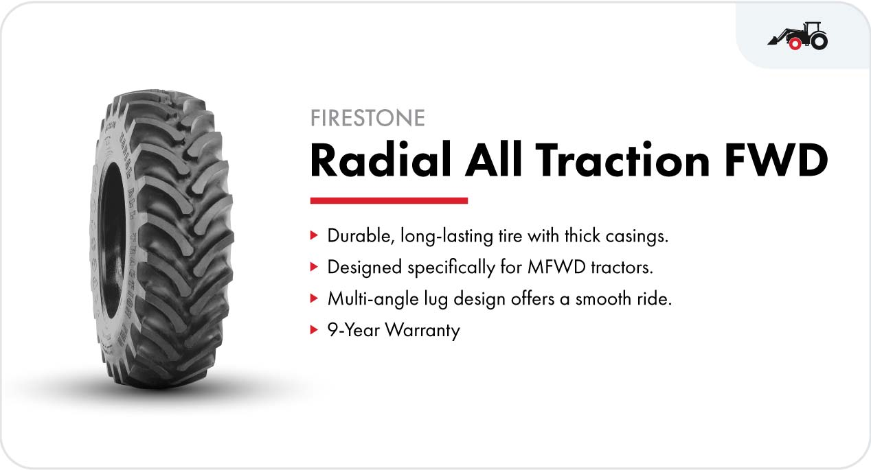 Firestone Radial All Traction FWD front tractor tire for loader tractors