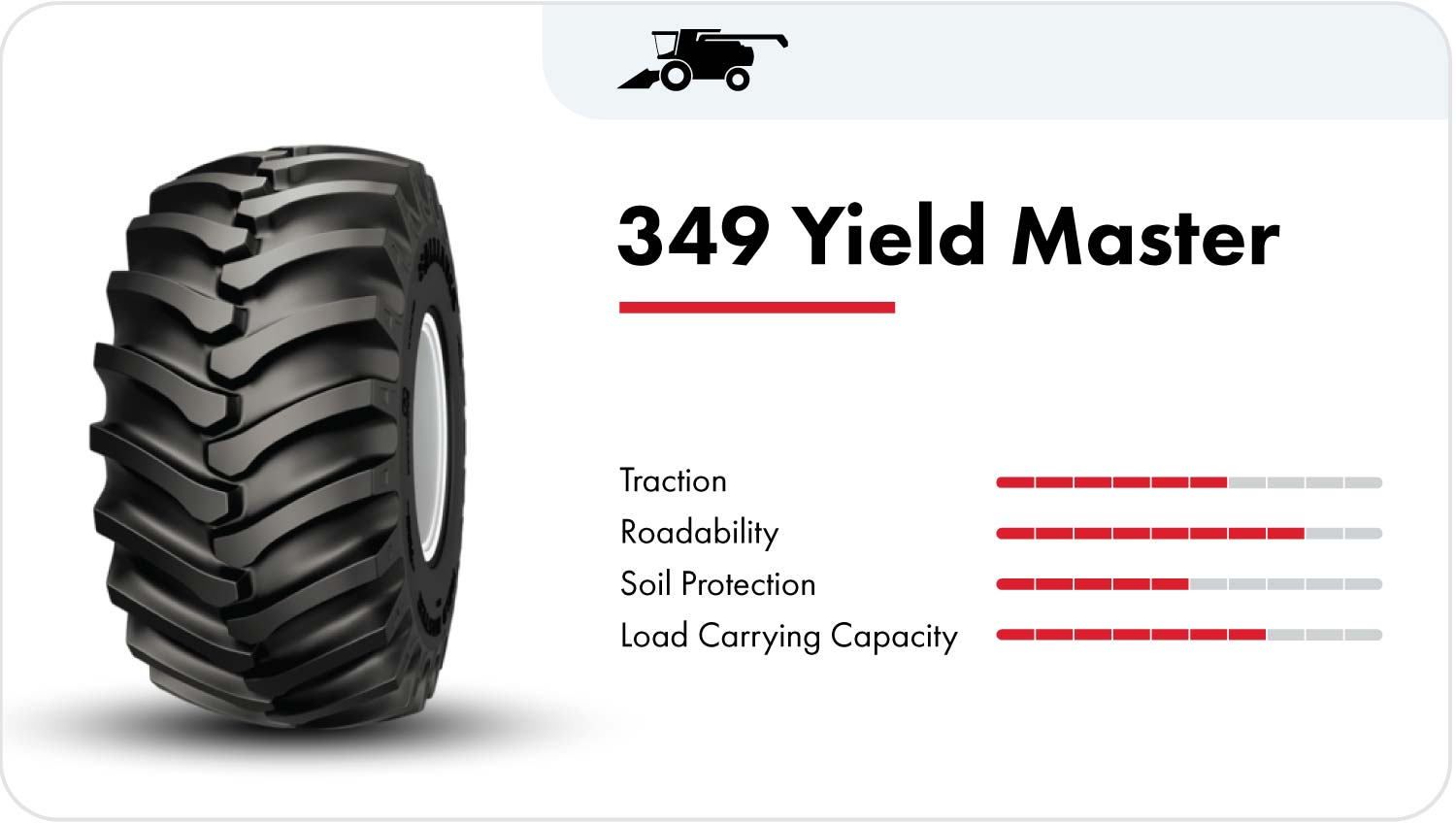 Alliance 349 Yield Master combine tire