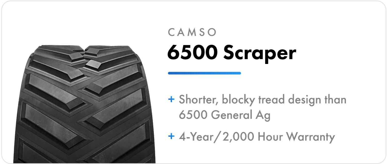 Camso 6500 Scraper - Positive Drive track for Case IH Quadtrac tractors