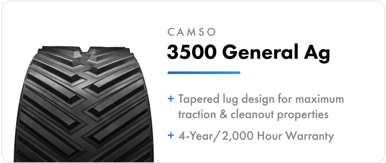 Camso 3500 General Ag - Positive Drive track for Case IH Quadtrac tractors
