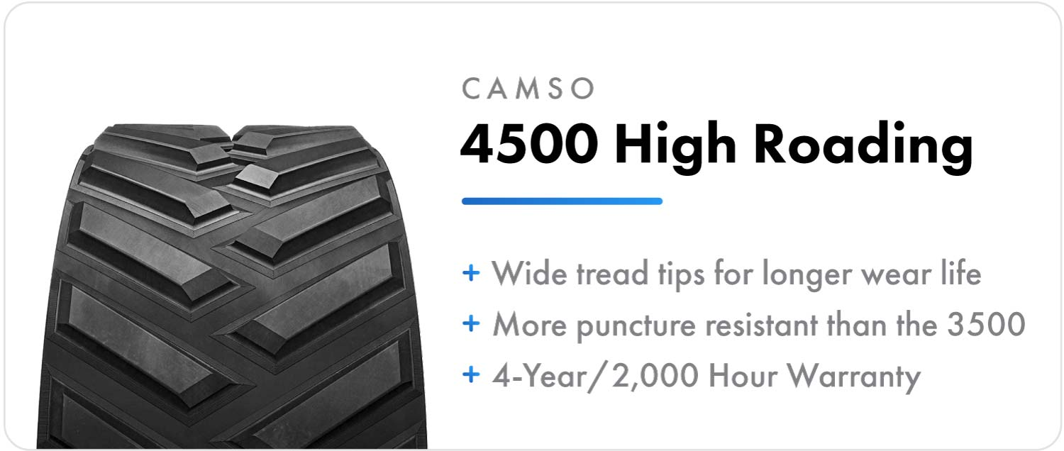 Camso 4500 High Roading replacement track for Case IH Rowtrac tractors