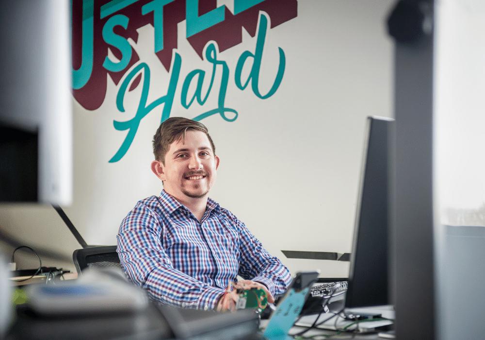 Jr. Employee smiling