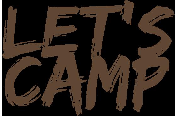 Let's Camp logo.