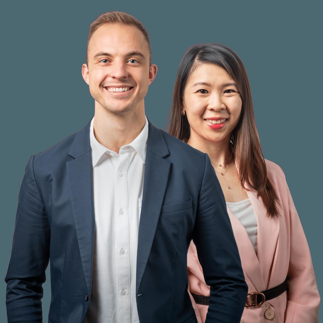 Matt Stephan and Cloe Ye.