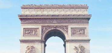 Imagem do Arco do Triunfo, na França