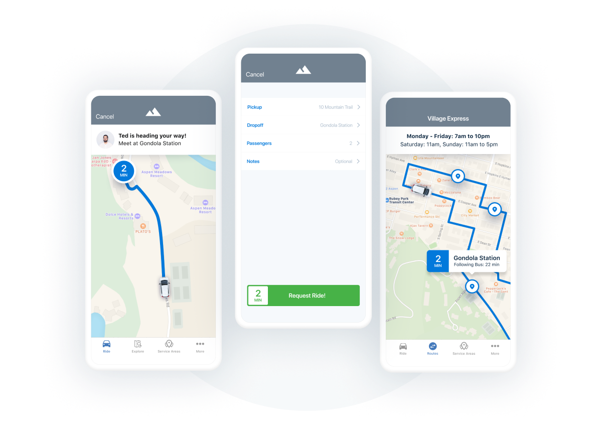 downtowner rider app