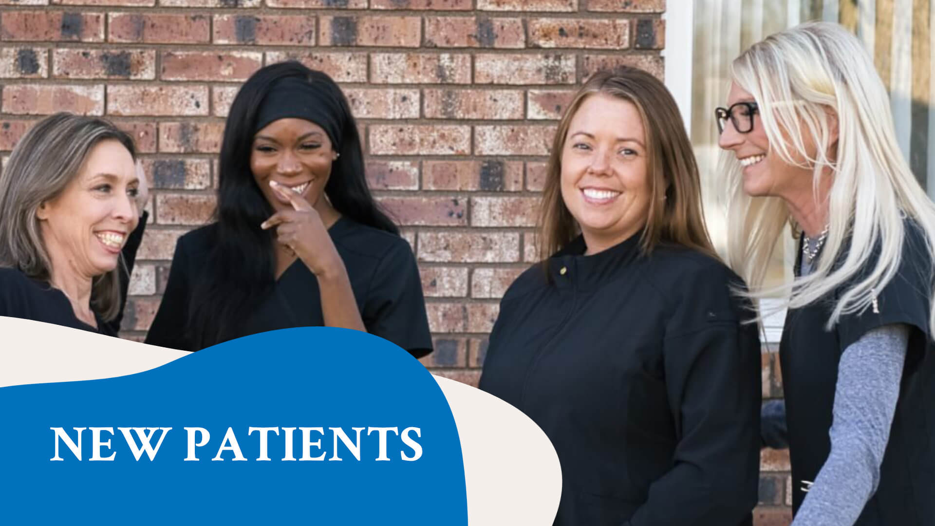 The Town & Country Dentistry team greeting patients.