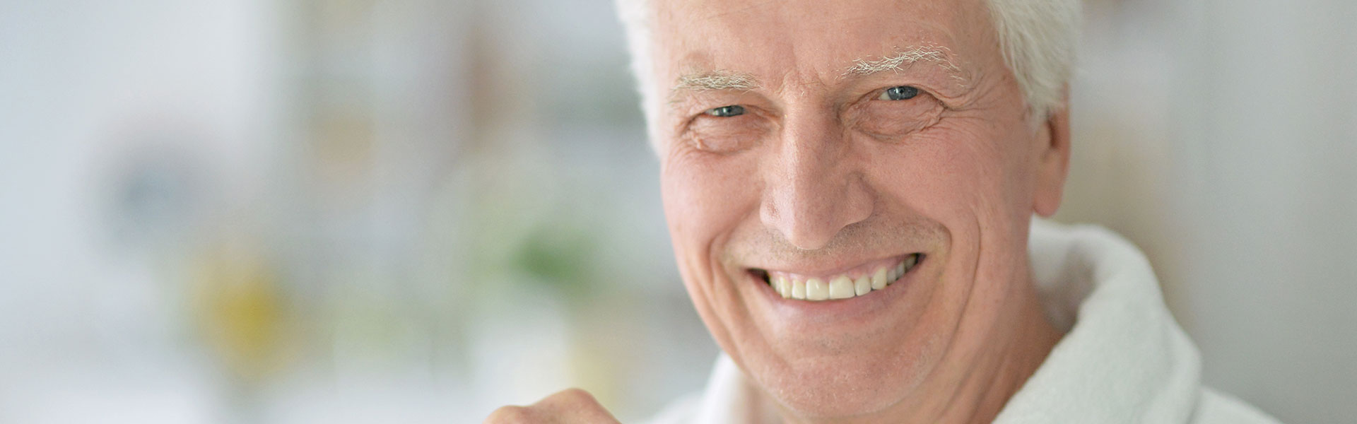 Man smiling confidently