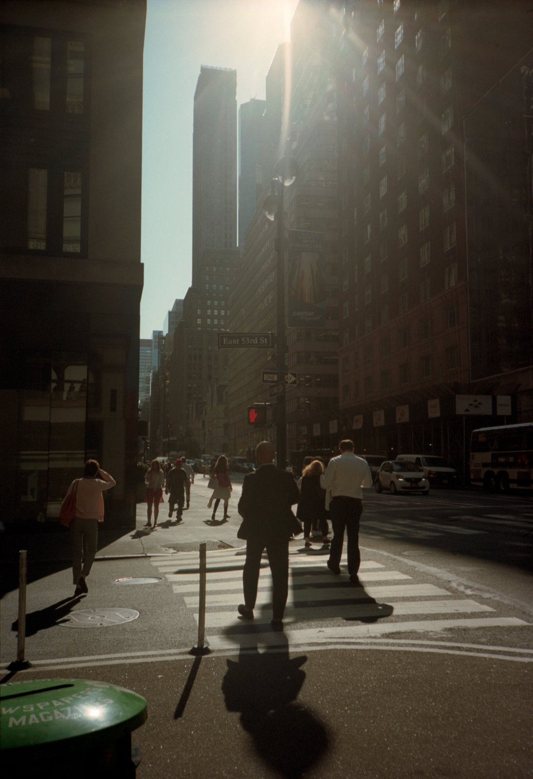 Light Between the rooftops, Madison Avenue, Lonely New York, Photography By Ioannis Koussertari.