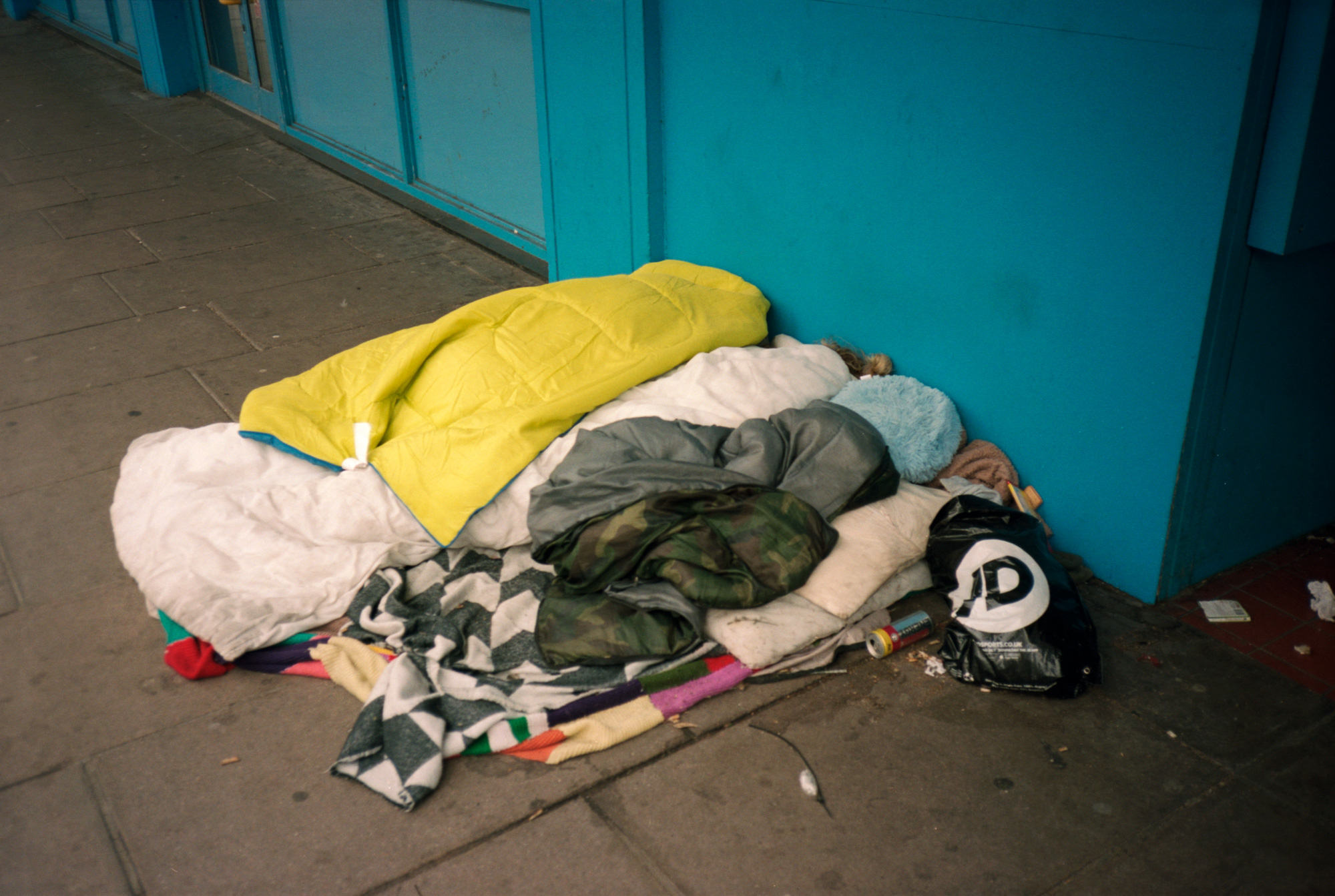 Homeless, Asleep On The Streets, Brighton, Observations Series, Photography By Ioannis Koussertari