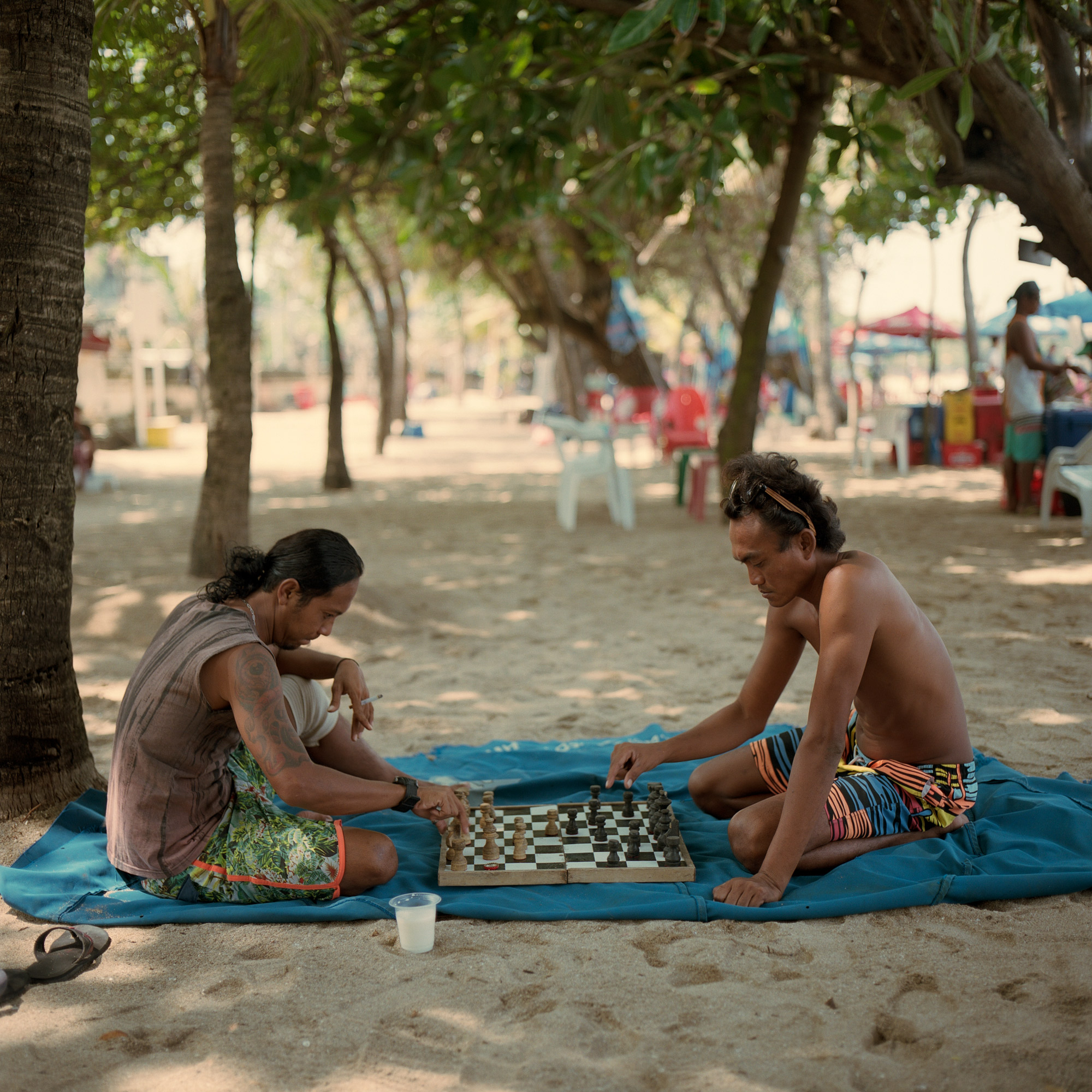 Playing Chess On Kuta Beach, Bali, Eastern Travels, Photography by Ioannis Koussertari