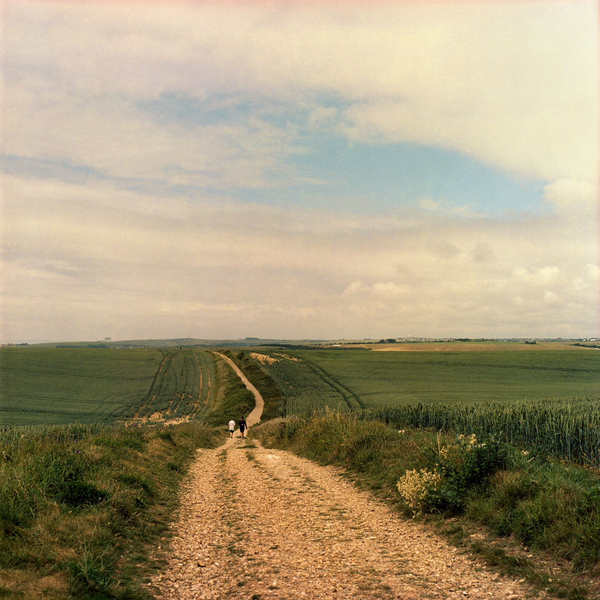 Path over the Tye, South East England, landscape on film by ioannis koussertari