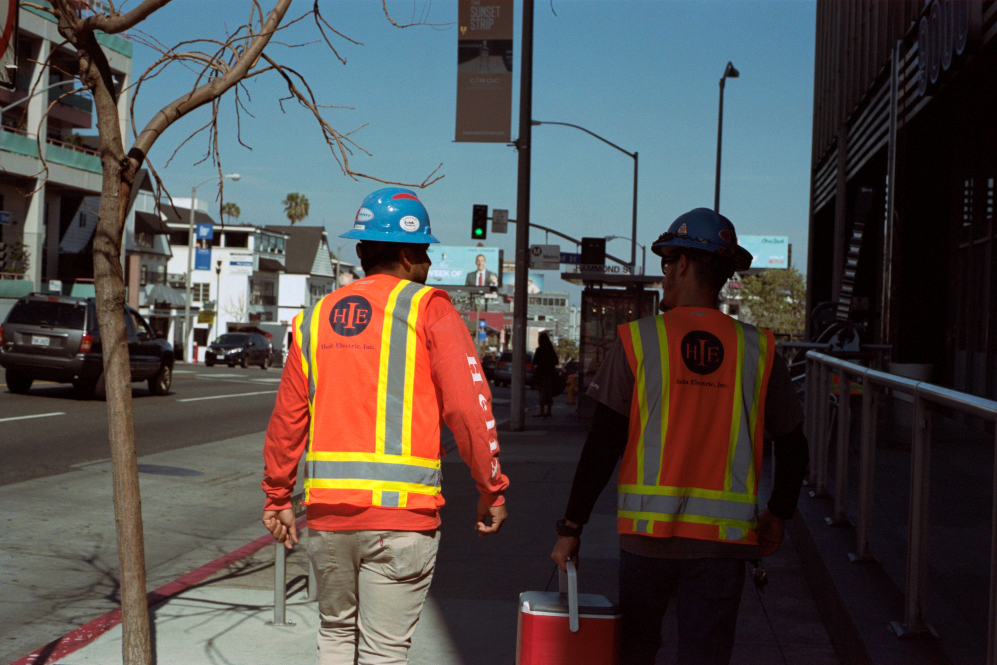 Builders, Sunset Blvd, LA, Omg Your English, Photography by Ioannis Koussertari