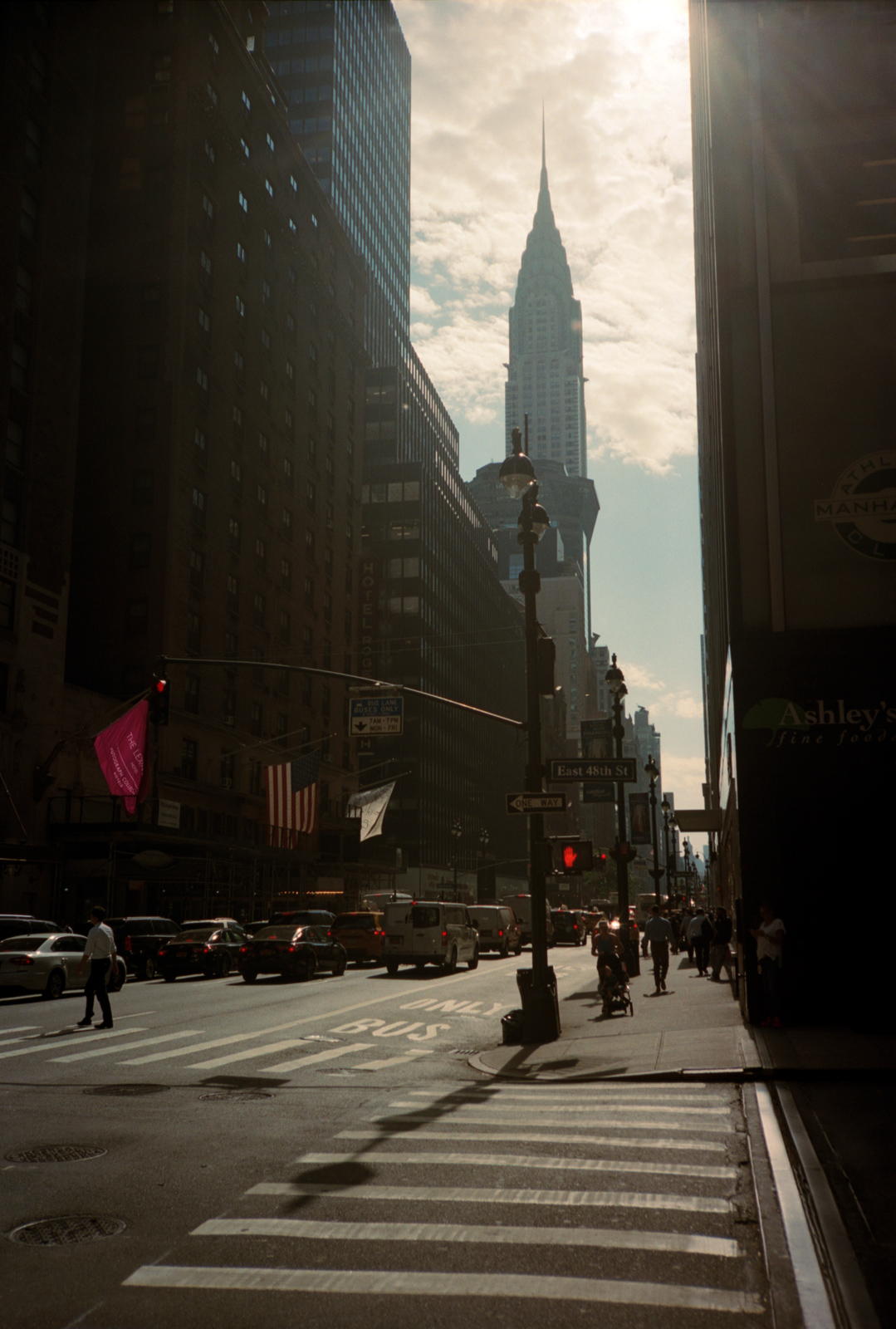 Empire State Building downtown Manhattan. Lonely New York Series. Photography By Ioannis Koussertari.