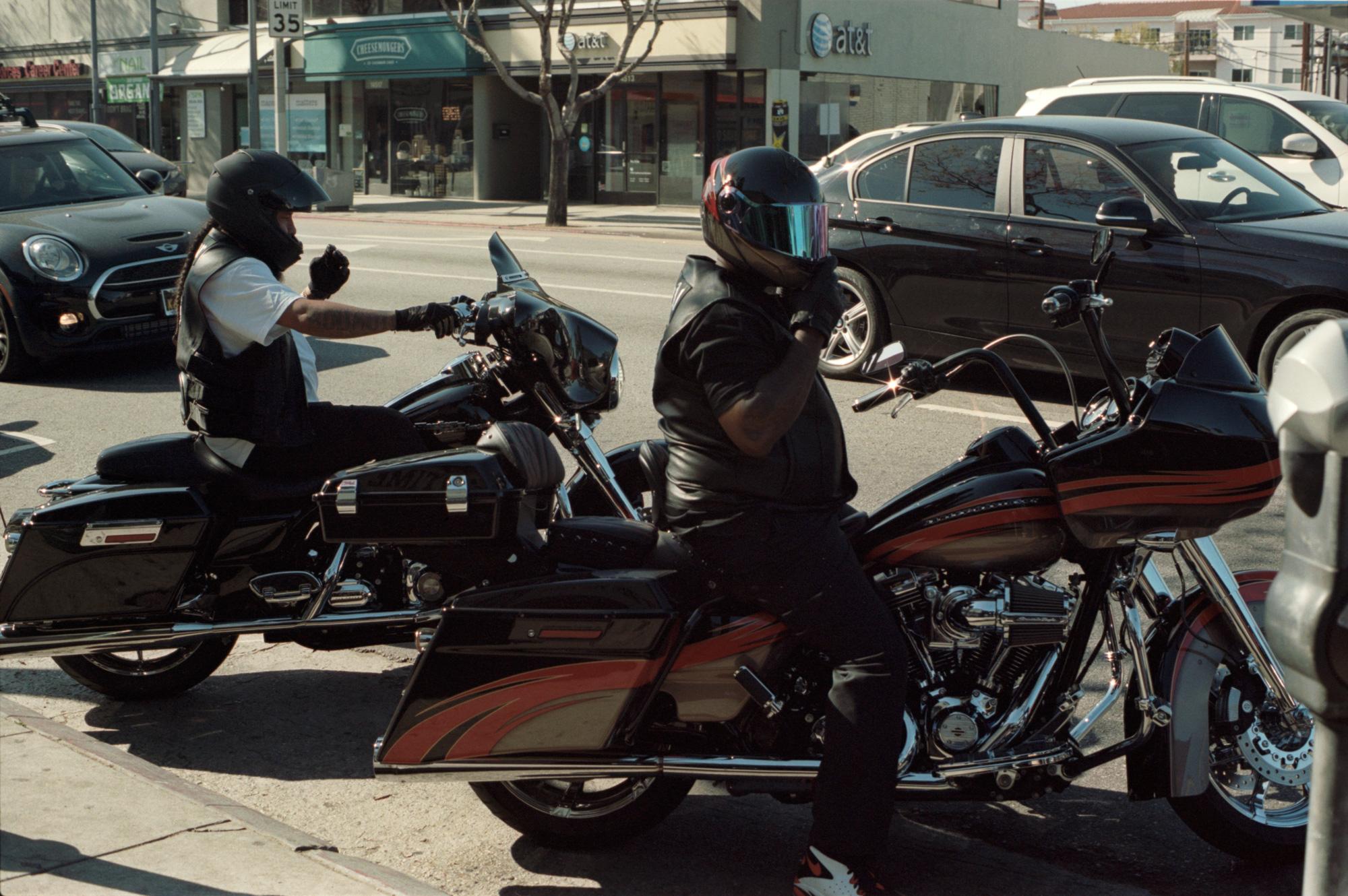 Bikers, 3rd Street, LA, Omg Your English, Photography By Ioannis Koussertari