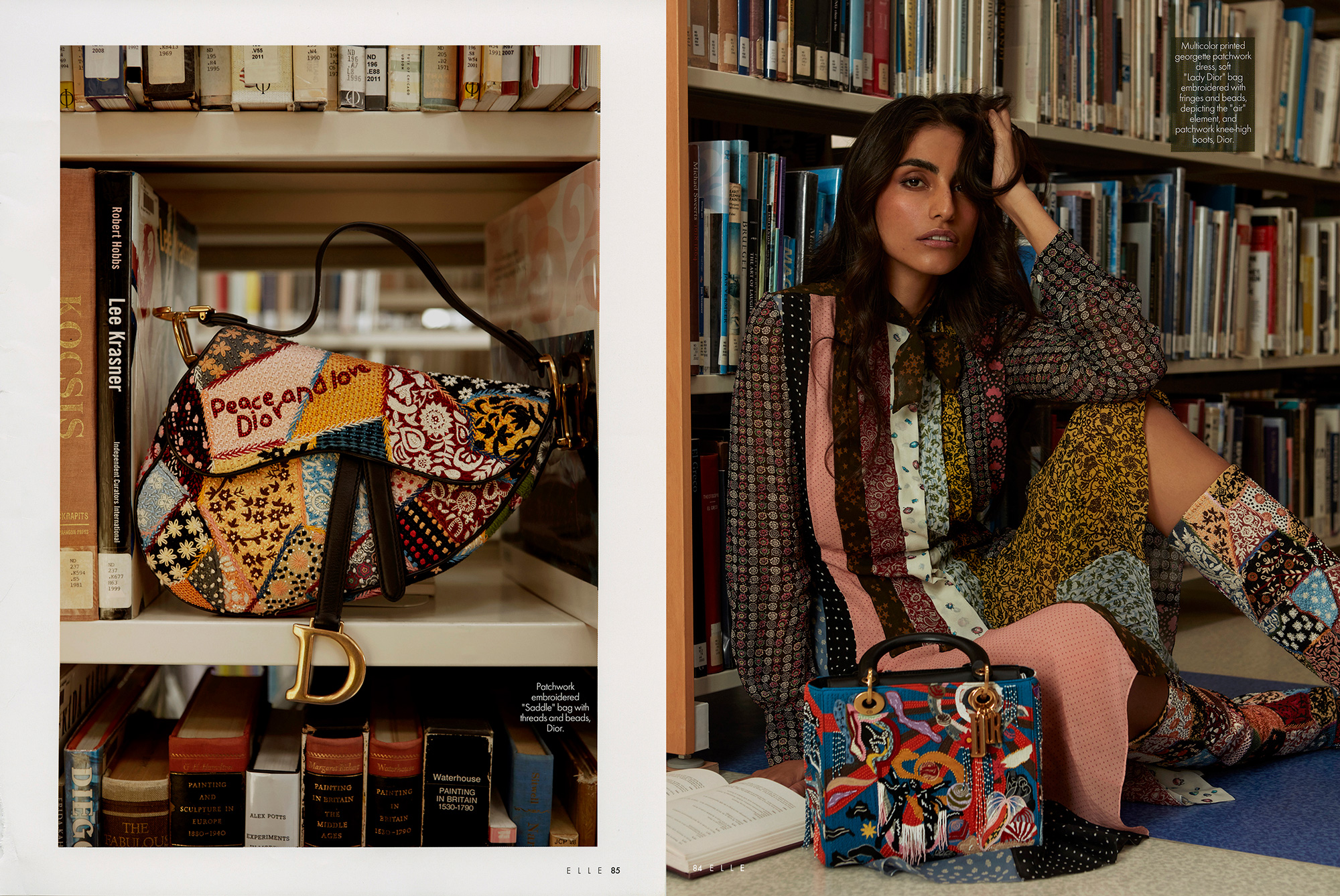 Farnoush Hamidian, Back to School in September Issue Dior story for ELLE Middle East, By Ioannis Koussertari
