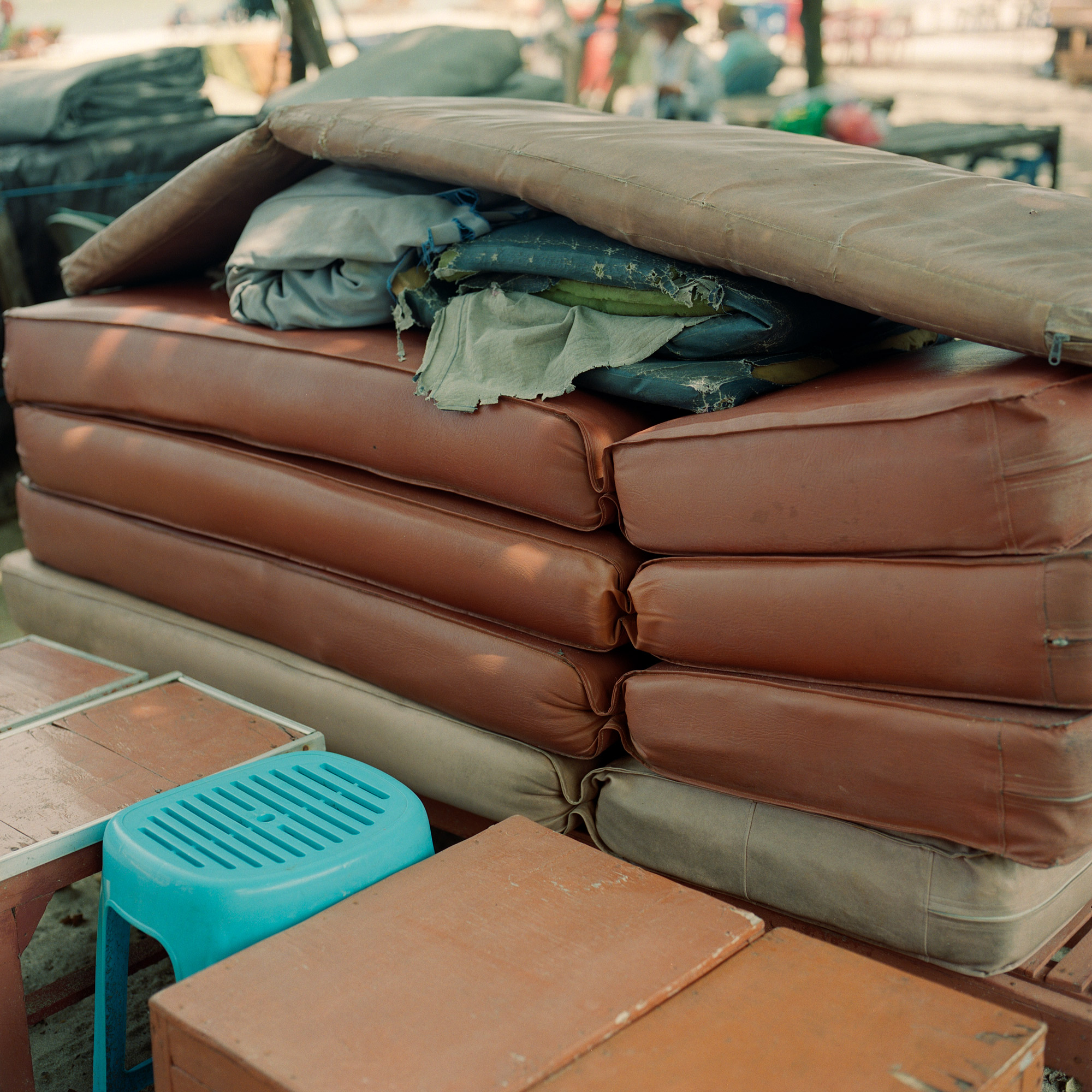 Beach Cushions, Kuta Bali, Eastern Travels, Photography by Ioannis Koussertari