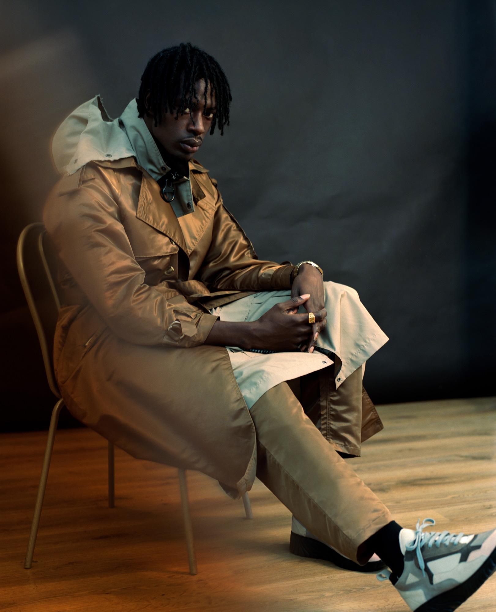 Mista Silva, Afrobeats Artist, fashion editorial for Notion Magazine, Photography by Ioannis Koussertari.