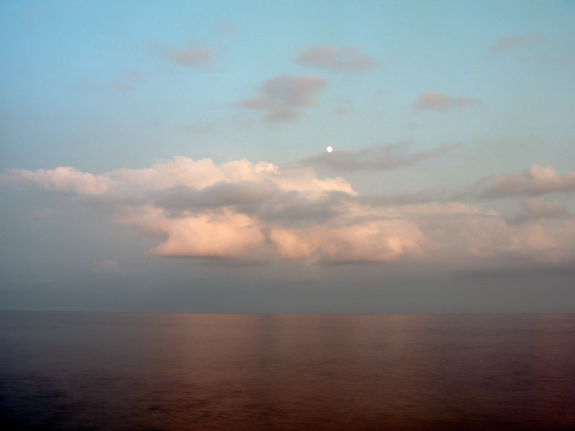 Cloud reflections on water, British South Coast Seas, seascape by Ioannis Koussertari.
