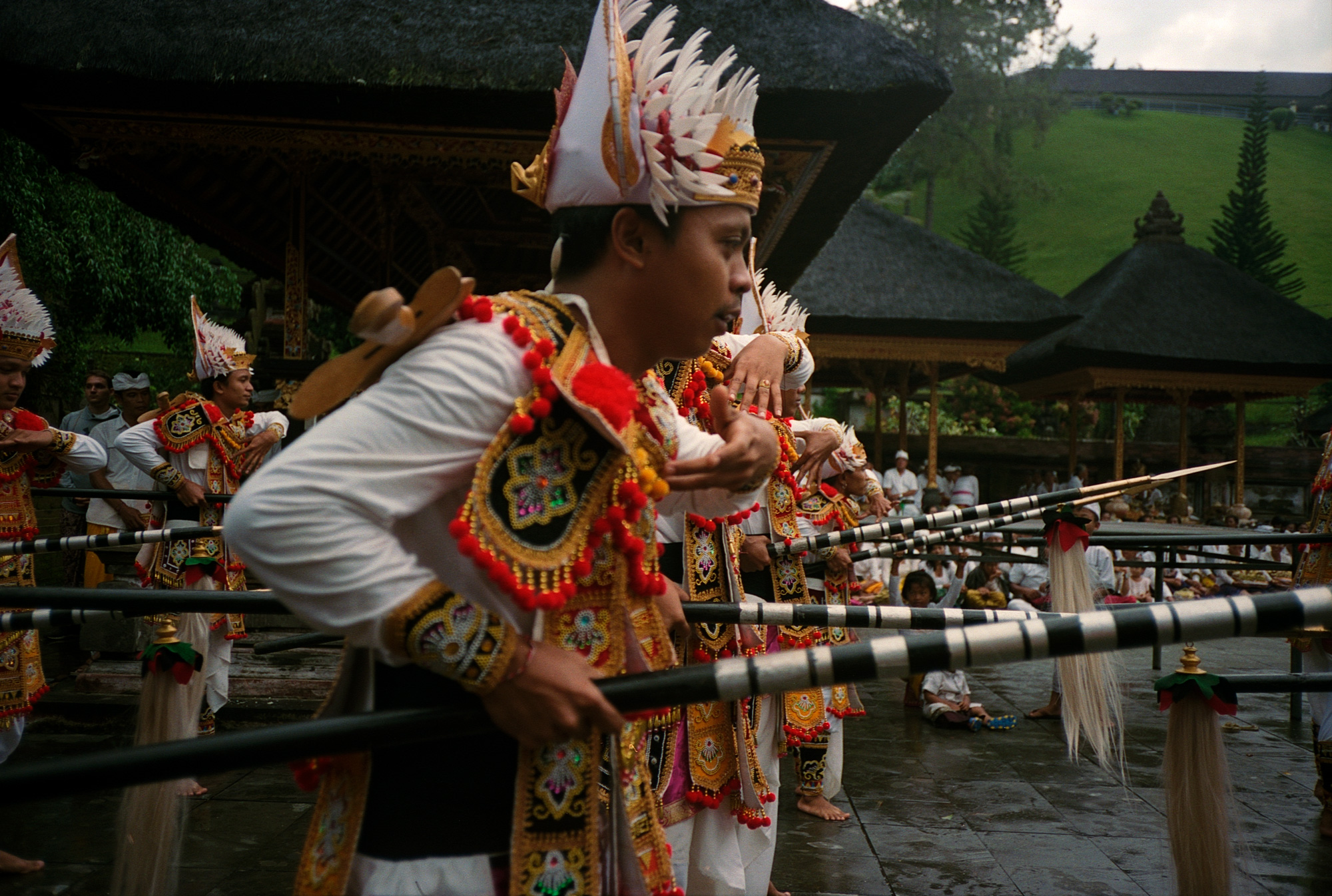 Tirta Empul Temple Performers, Eastern Travels, Ubud, Photography By Ioannis Koussertari