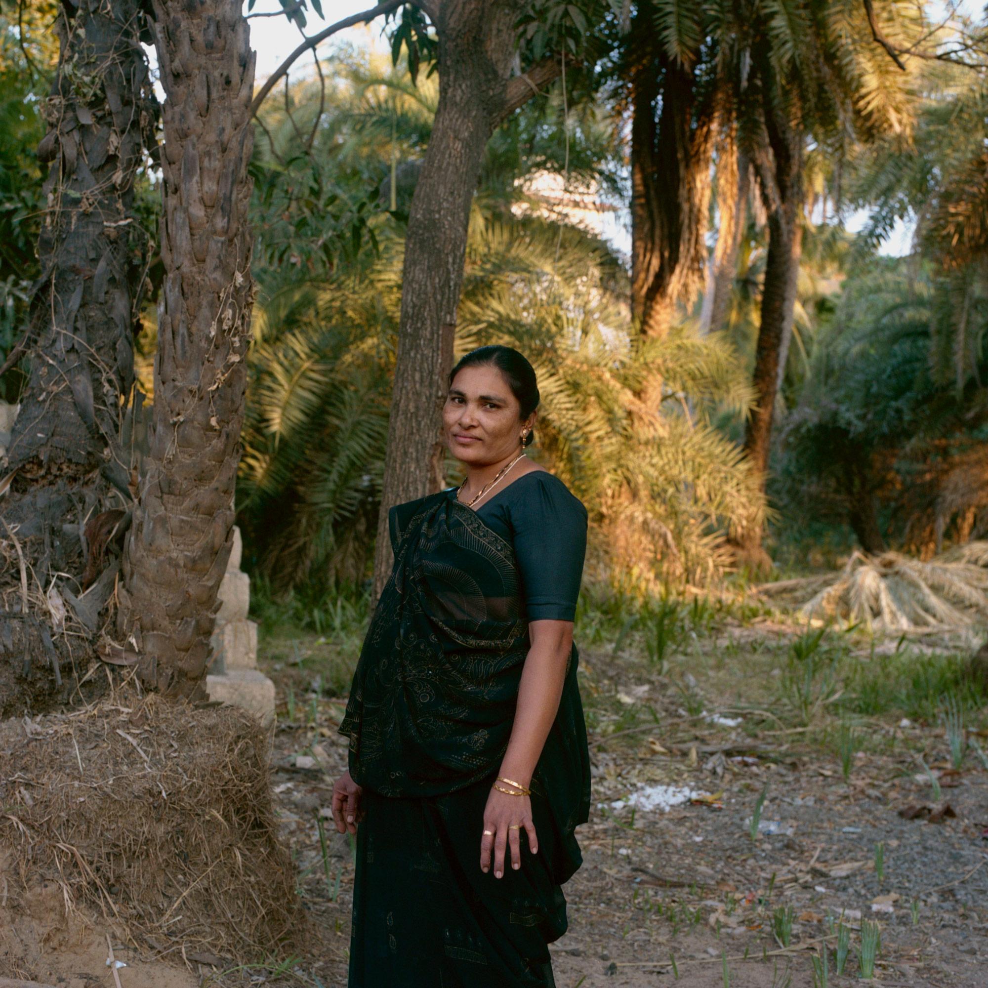 Woman in Diu India, portrait by Ioannis Koussertari 2010.