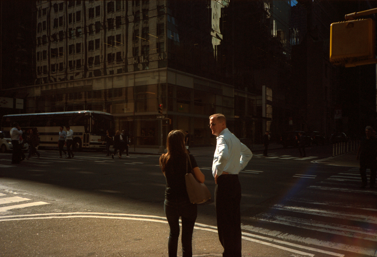 Discussions on Madison Avenue. Lonely New York Series By Ioannis Koussertari.