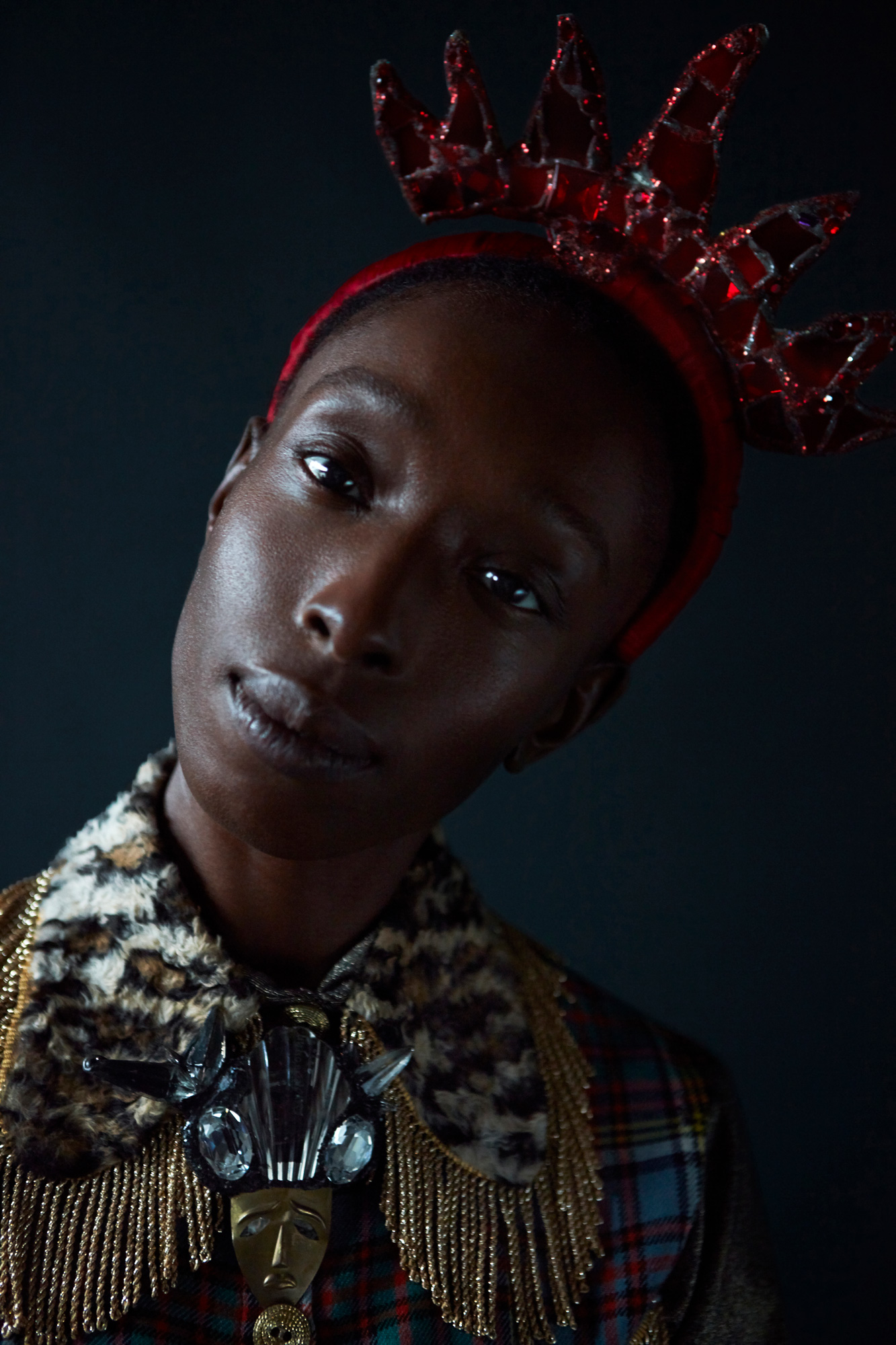 Eunice Olumide, The Scottish model turned curator supporting emerging artists, fashion story for Hunger Magazine, Photography by Ioannis Koussertari